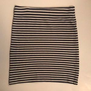 Madewell black and white striped skirt. Size M